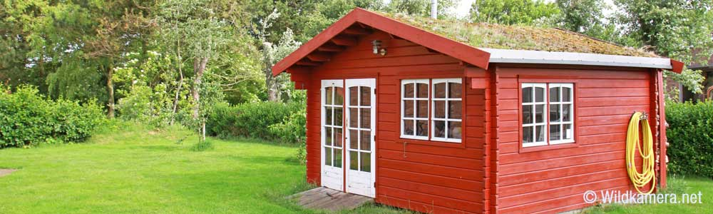 gartenhaus mit einer wildkamera sichern. Black Bedroom Furniture Sets. Home Design Ideas